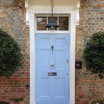 Accoya hardwood door painted blue