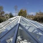 Hardwood Roof Lantern vent painted white window