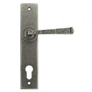 Antique avon multi-point door handle pewter