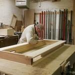 timber windows painted white workshop UK