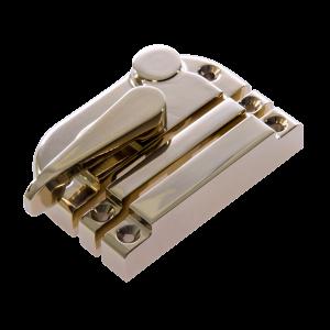 Contemporary locking sash fastener pvd brass