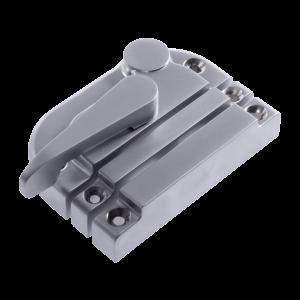 Contemporary non locking sash fastener satin chrome