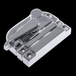 Contemporary non locking sash fastener polished chrome