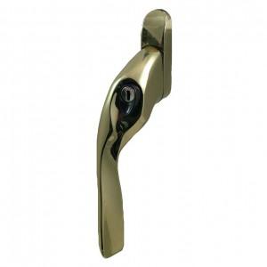 EH20 locking espagnolette handle brass