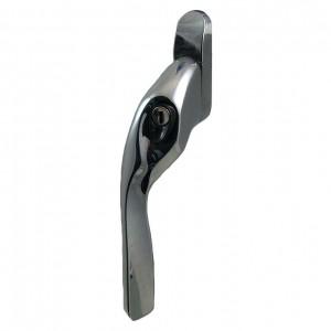 EH20 locking espagnolette handle polished chrome