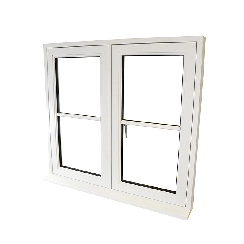 Double glazed hardwood Flush Casement Window painted