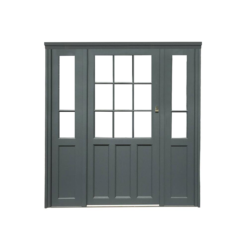 Double glazed hardwood door sidelights painted