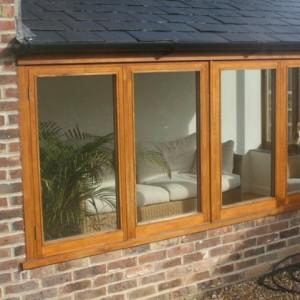 Oak Storm Proof Window double glazed softwood