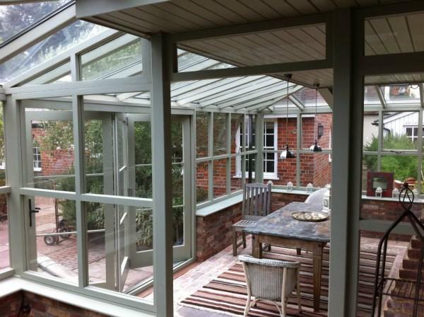Solid windows bi-fold doors orangery roof Grey