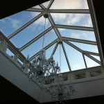 Timber Roof Lantern sidelights painted white oak