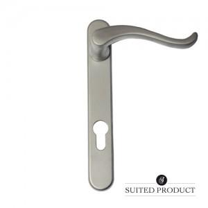 Swan neck multi-point door handle Satin Chrome