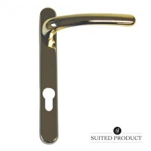 Windsor multi-point door handle Brass
