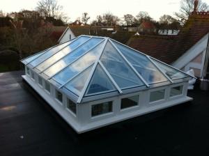 Hardwood Roof Lantern sidelights Skylight