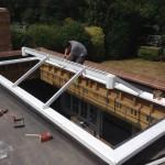 Installing large Wooden Timber framed Roof Lantern