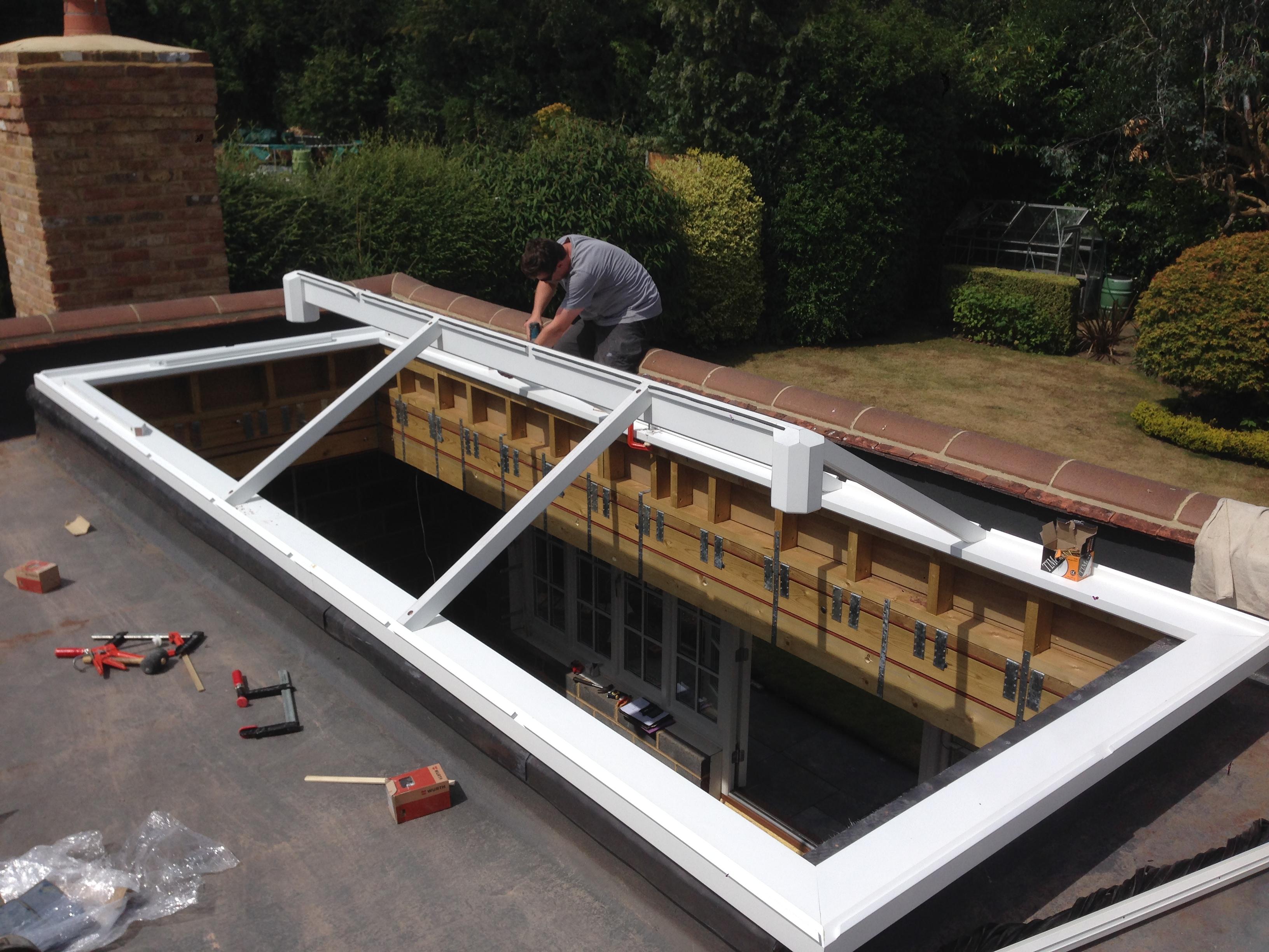 Fitting A Large Wooden Timber Framed Roof Lantern Medina