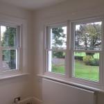 Hardwood sash windows view painted glazed