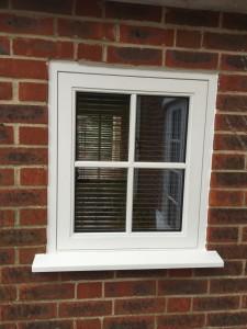 small painted hardwood casement flush windows