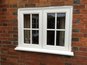 Painted Casement flush windows in cottage