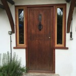 Oak Front Door sidelights double glazed windows
