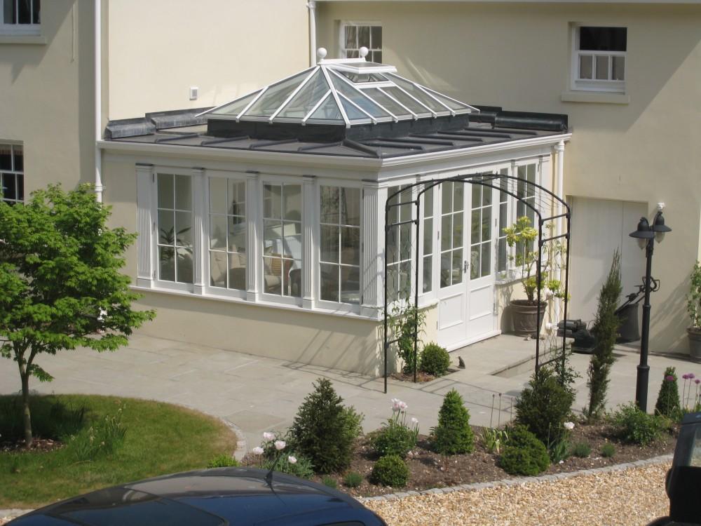 Hardwood Timber Roof Lantern vent painted white