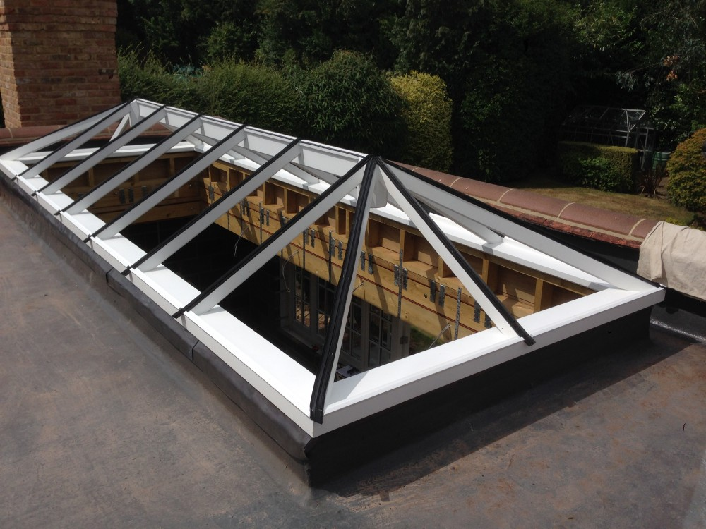 Timber Roof Lantern flat roof hardwood oak