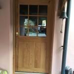Solid Oak door half glazed applied bars