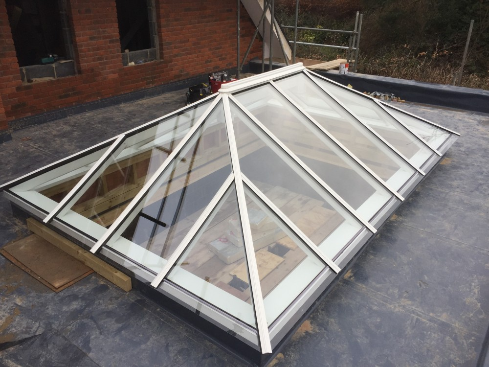 Timber roof lantern installing assembly assembled installed
