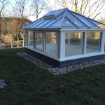 Timber Roof Lantern with large sidelights