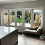 Accoya Bi-folding doors central access door timber