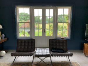 French doors Sash sidelights timber patio Accoya