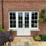 Accoya French doors Sash window sidelights patio
