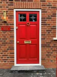 Red Accoya Front door entrance timber