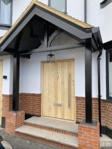 Accoya Front door wooden timber entrance