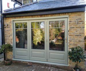 Accoya Bifold Bi-fold folding doors timber patio