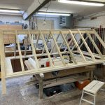Building a timber Roof Lantern in workshop