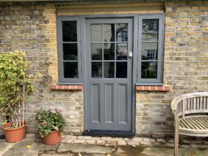 Grey Accoya Entrance Front door painted