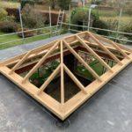 Oak framed roof Lantern Timber framed skylights