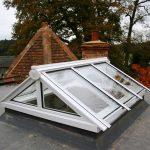 Timber gable end roof lantern skylight Light