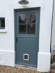 Timber stable door Accoya rear