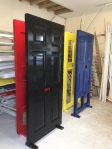 Workshop painted Accoya doors timber