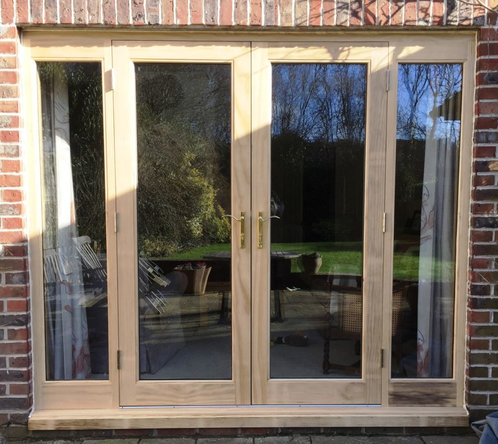 Accoya timber French doors sidelights