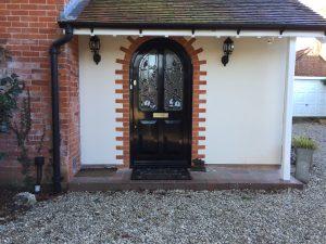 Accoya Front door black Hampshire timber