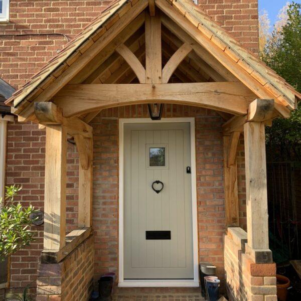 Accoya Front door Oak porch Petersfield Hampshire