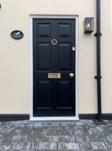 Black Accoya Front Door timber entrance