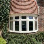 Accoya flush casement bay window timber Medina