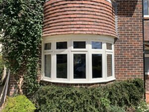 Accoya flush casement bay window timber