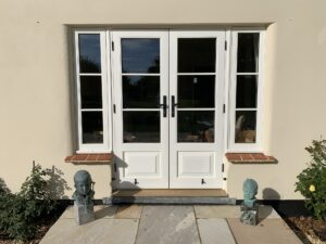 Accoya panelled French patio timber