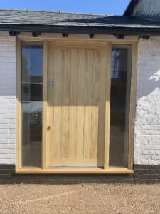Front door sidelights timber entrance