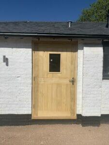 glazed door timber entrance Front