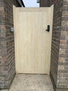 Accoya gate hardwood timber